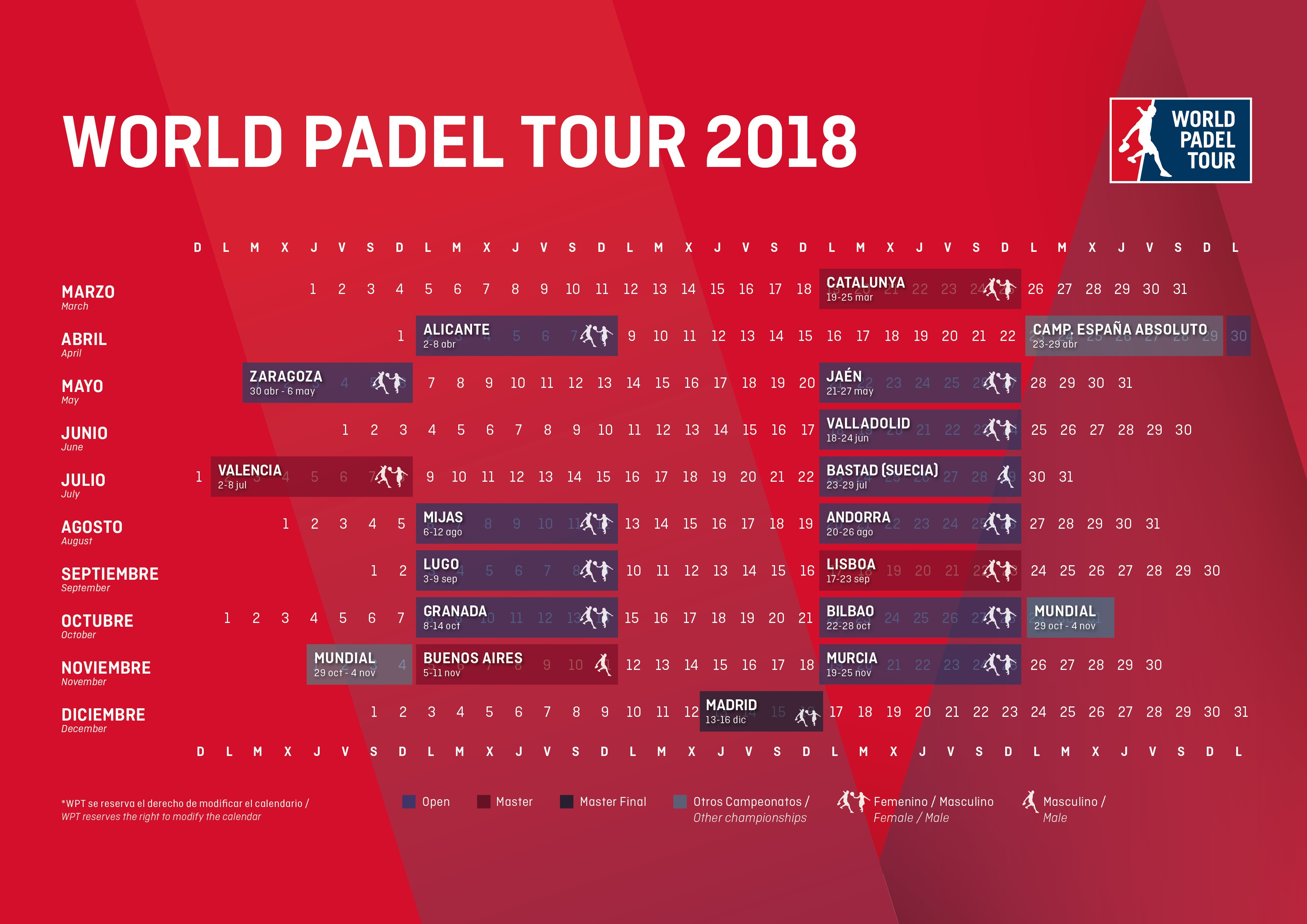 Calendario World Padel Tour | World Padel Tour